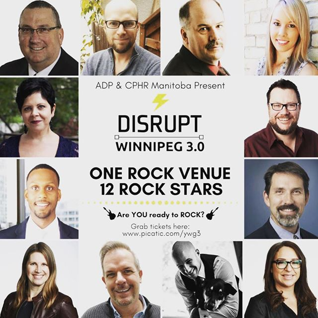 Top-right!  That's our own @jaysarobin speaking at DisruptHR Winnipeg on May 10!  She's going to disrupt all those stereotypes about HR and reclaim its reputation! 🎯 . . . #gojaysago #disrupthr #breakingstereotypes #reclaiminghr #winnipeg #winnipegbusiness #winnipegbiz #exchangedistrict #exchangebiz #exchangedistrictbiz #humanresources #humanresourcesmanagement #hrmanager #hrmanagement #hrmanagers #leaders #leadership #managers #employeeengagement #business #management #recruiting #recruitment #companyculture #hrlife #getstuffdone